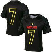 Men's Under Armour No. 7 Black Maryland Terrapins Replica Lacrosse Jersey