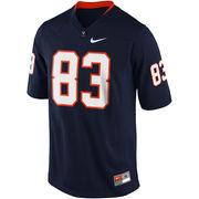 Nike Virginia Cavaliers #83 Game Football Jersey - Navy Blue