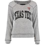 Women's Heather Gray Texas Tech Red Raiders Moonlight French Terry Crewneck Sweatshirt