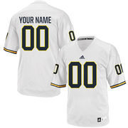 Men's adidas White Michigan Wolverines Custom Replica Jersey