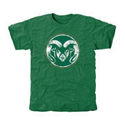 Men's Green Colorado State Rams Classic Primary Logo Tri-Blend T-Shirt
