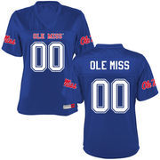 Women's Navy Ole Miss Rebels Personalized Football Name & Number Jersey