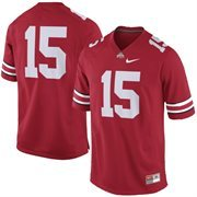 Men's Nike No. 15 Scarlet Ohio State Buckeyes Replica Game Football Jersey