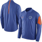Men's Nike Royal Boise State Broncos 2015 Football Coaches Sideline Half-Zip Wind Jacket