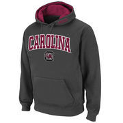 Men's Stadium Athletic Charcoal South Carolina Gamecocks Arch & Logo Pullover Hoodie