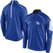 Men's Nike Royal Kentucky Wildcats 2015 Coaches Sideline Alpha Fly Rush 1/4 Zip Performance Jacket