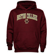 Boston College Eagles Youth Midsized Pullover Hoodie - Maroon
