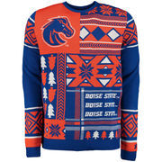 Men's Royal Boise State Broncos Patches Ugly Sweater