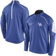 Men's Nike Royal Kentucky Wildcats 2015 Football Coaches Sideline Quarter-Zip Performance Jacket