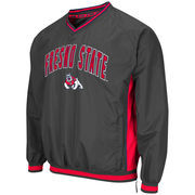 Men's Colosseum Charcoal Fresno State Bulldogs Fair Catch Pullover Jacket