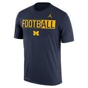 Men's Brand Jordan Navy Michigan Wolverines Legend FootbALL Dri-FIT T-Shirt