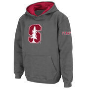 Youth Stadium Athletic Charcoal Stanford Cardinal Big Logo Pullover Hoodie