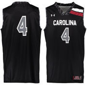 Men's Under Armour #4 Black South Carolina Gamecocks Performance Replica Basketball Jersey