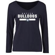 Women's Navy Butler Bulldogs Team Strong Long Sleeve Slim Fit T-Shirt