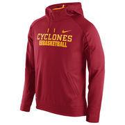 Men's Nike Cardinal Iowa State Cyclones Elite Basketball Performance Hoodie