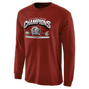 Men's Crimson Washington State Cougars 2015 Sun Bowl Champions Hash Mark Long Sleeve T-Shirt
