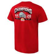 Men's Red Ohio State Buckeyes 2016 Fiesta Bowl Champions Touchdown Score T-Shirt