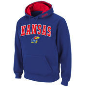 Men's Stadium Athletic Royal Kansas Jayhawks Arch & Logo Pullover Hoodie