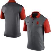 Men's Nike Gray Syracuse Orange 2015 Coaches Preseason Sideline Polo