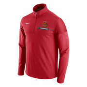 Men's Nike Red Cornell Big Red Elite Coaches Performance Half-Zip Pullover Jacket