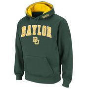 Men's Stadium Athletic Green Baylor Bears Arch & Logo Pullover Hoodie