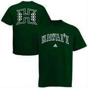 Mens adidas Green Hawaii Warriors Relentless T-Shirt