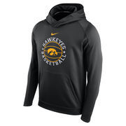 Men's Nike Black Iowa Hawkeyes Circuit Basketball Hoodie