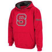 Youth Stadium Athletic Red NC State Wolfpack Big Logo Pullover Hoodie