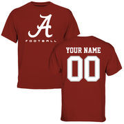 Men's Crimson Alabama Crimson Tide Personalized Football Logo T-Shirt