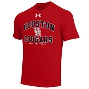 Mens Houston Cougars Under Armour Red School Mascot Tech T-Shirt