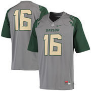 Men's Nike Gray Baylor Bears #16 Game Football Jersey
