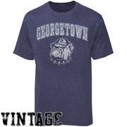Georgetown Hoyas Big Arch N' Logo Ring Spun T-Shirt - Heathered Blue