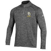 Men's Under Armour Heather Grey Baylor Bears 1/4 Zip Performance Top