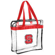 NC State Wolfpack Clear Basic Messenger Tote Bag