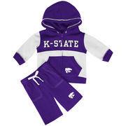 Infant Colosseum Purple Kansas State Wildcats Midfield Fleece Sweat Set