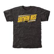 Men's Black Southern Miss Golden Eagles Double Bar Tri-Blend T-Shirt