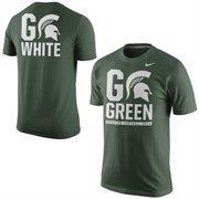 Men's Nike Green Michigan State Spartans Student Fan T-Shirt