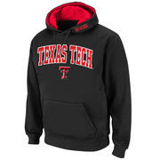 Men's Stadium Athletic Black Texas Tech Red Raiders Arch & Logo Pullover Hoodie