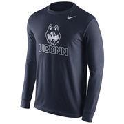Men's Nike Navy UConn Huskies Cotton Logo Long Sleeve T-Shirt