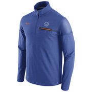 Men's Nike Heathered Royal Boise State Broncos 2016 Elite Coaches Dri-FIT 1/2 Zip Jacket