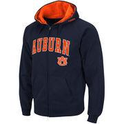 Men's Stadium Athletic Navy Auburn Tigers Arch & Logo Full Zip Hoodie