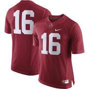 Men's Nike #16 Crimson Alabama Crimson Tide Limited Jersey