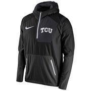 Men's Nike Black TCU Horned Frogs 2016 Sideline Vapor Fly Rush Half-Zip Pullover Jacket