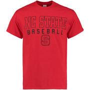 Men's New Agenda Red NC State Wolfpack Frame Baseball T-Shirt