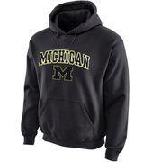 Michigan Wolverines Midsize Arch Pullover Hoodie - Dark Gray