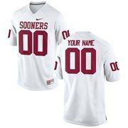 Mens Oklahoma Sooners Nike White Custom Replica Football Jersey