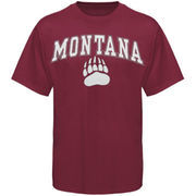 Mens Maroon Montana Grizzlies Arch Over Logo T-Shirt