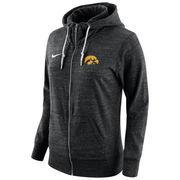 Women's Nike Black Iowa Hawkeyes Tailgate Gym Vintage Full-Zip Hoodie