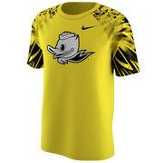 Men's Nike Yellow Oregon Ducks Uniform Hook Legend T-Shirt