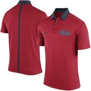 Men's Nike Red Ole Miss Rebels 2015 Coaches Sideline Dri-FIT Polo